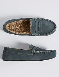 Kids' Freshfeet™ Moccasin Slipper Shoes