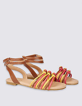 Kids' Faux Leather Knotted Sandals