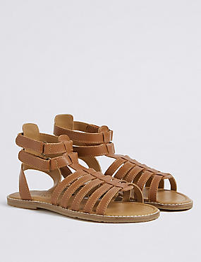 Kids' Leather Gladiator Sandals