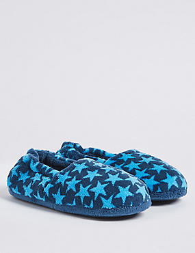 Kids' Star Print Slippers