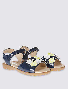 Kids' Applique Flowers Sandals