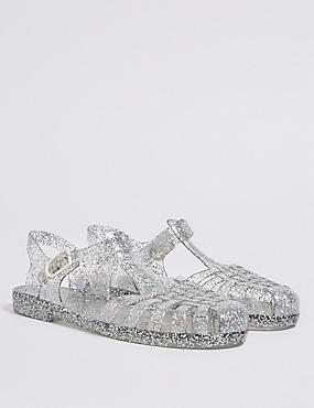 Kids' Glitter Jelly Sandals (13 Small - 6 Large)