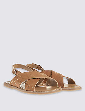 Kids' Leather Sandals