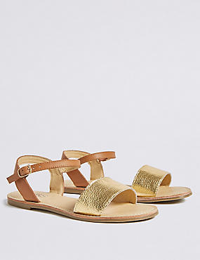 Kids' Leather Sandals (13 Small - 6 Large), TAN, catlanding