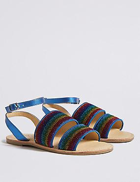 Kids' Sparkling Glitter Sandals (13 Small - 6 Large), MULTI, catlanding