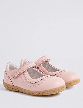 Kids' Leather Walkmates™ Cross Bar Shoes , Pink Mix, catlanding
