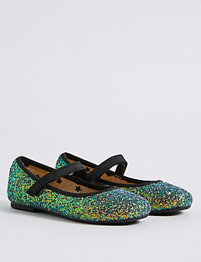 Kids' Mermaid Glitter Cross Bar Shoes