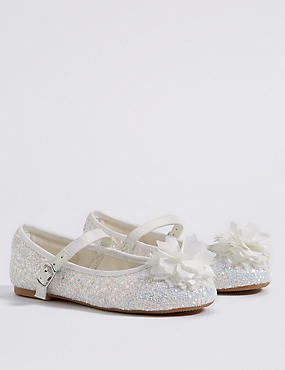 Kids' Bridesmaid Sequin Cross Bar Shoes