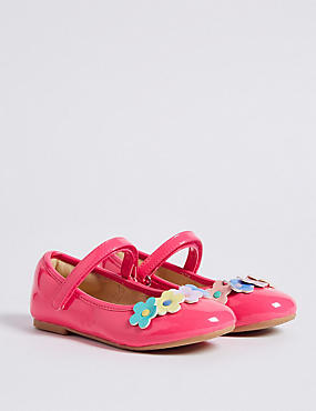 Kids' Floral Riptape Cross Bar Shoes