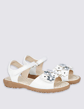Kids' Faux Leather Riptape Sandals