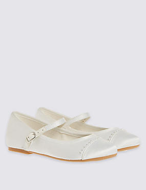Kids' Pearl Trim Cross Bar Shoes