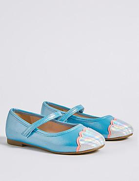 Kids' Cross Bar Shell Shoes (5 Small - 12 Small), BLUE MIX, catlanding