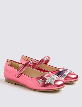 Kids' Ballerina Shoes (5 Small - 12 Small), PINK MIX, catlanding
