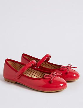 Kids' Ballerina Shoes (5 Small - 12 Small), RED, catlanding