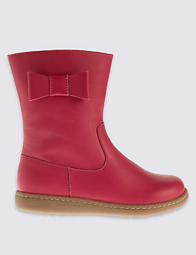 Kids' Leather Side Zipped Boots