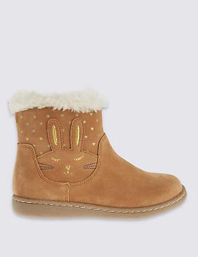 Kids Water Repellent Suede Novelty Boots