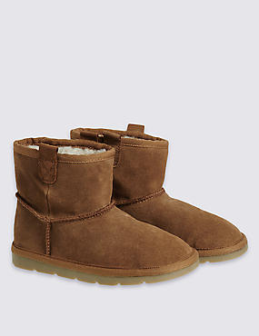 Kids Water Repellent Suede Boots