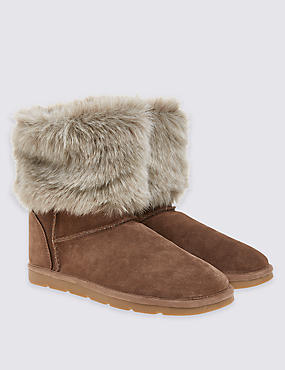 Kids' Water Repellent Suede Boots