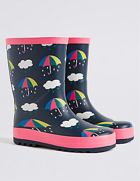 Kids' Novelty Umbrella Welly Boots