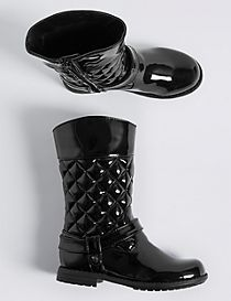 Kids' Quilted Mid-calf Boots