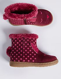 Kids' Suede Mid-calf Boots