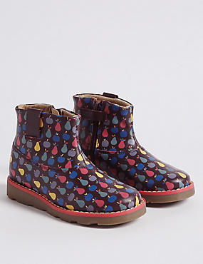 Kids' Leather Ankle Boots