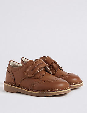 Kids' Walkmates™ Brogue Shoes (4 Small - 11 Small), BROWN, catlanding