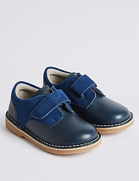 Kids' Walkmates™ Leather Shoes (4 Small - 11 Small), NAVY, catlanding