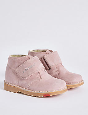 Kids' Suede Walkmates™ Ankle Boots , PINK, catlanding