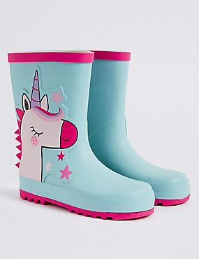 Kids' Unicorn Wellies (5 Small - 12 Small)