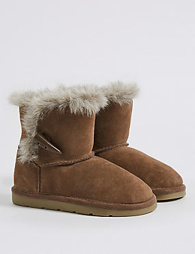 Kids' Suede Water Repellent Ankle Boots