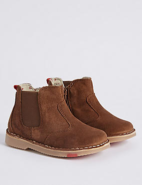 Kids' Suede Chelsea Boots with Walkmates™