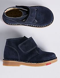 Kids' Suede Riptape Walkmates Ankle Boots