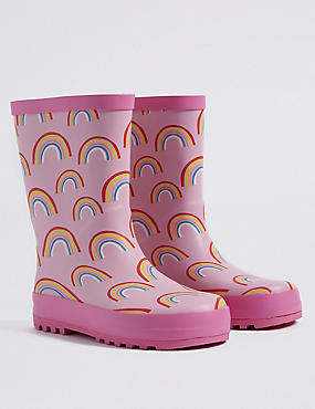 Kids' Rainbow Printed Wellies