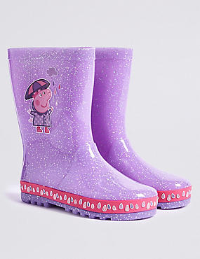 Kids' Peppa Pig™ Wellies (5 Small - 12 Small), PINK MIX, catlanding