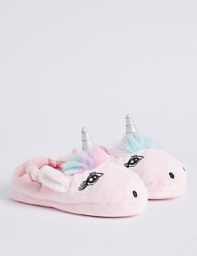 Kids' Slip-on Unicorn Slippers (5 Small - 6 Large)