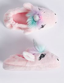Kids' Slip-on Unicorn Slippers
