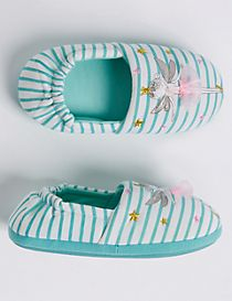 Kids' Fairy Striped Slipper Shoes