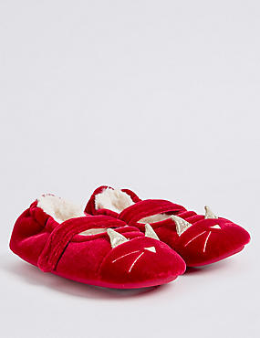 Kids' Novelty Velvet Slipper Shoes