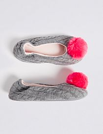 Kids' Pom-pom Slippers