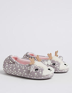 Kids' Deer Ballet Slippers (13 Small - 6 Large), MULTI, catlanding