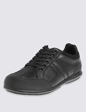 Kids' Freshfeet™ Leather Trainers with Insolia Flex® & Silver Technology