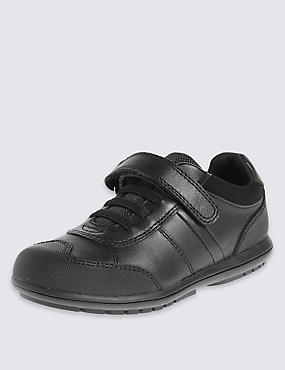 Kids' Freshfeet™ Leather Trainers with Silver Technology