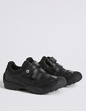 Kids' Coated Leather Scuff Resistant Football Trainers