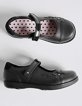 Kids' Freshfeet™ Scuff resistant Coated Leather School Shoes