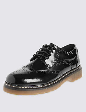 Kids' Freshfeet™ Coated Leather School Brogues with Silver Technology