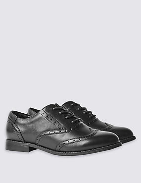 Kids' Freshfeet™ Leather Brogue School Shoes with Insolia Flex®