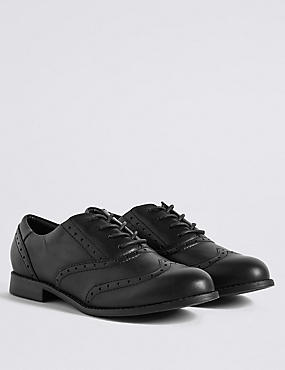 Kids' Freshfeet™ Leather Brogue Shoes with Insolia Flex®