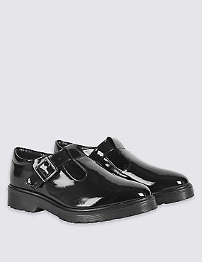 Kids' Leather Freshfeet™ T-Bar School Shoes