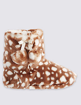 Kids' Animal Skin Print Slippers